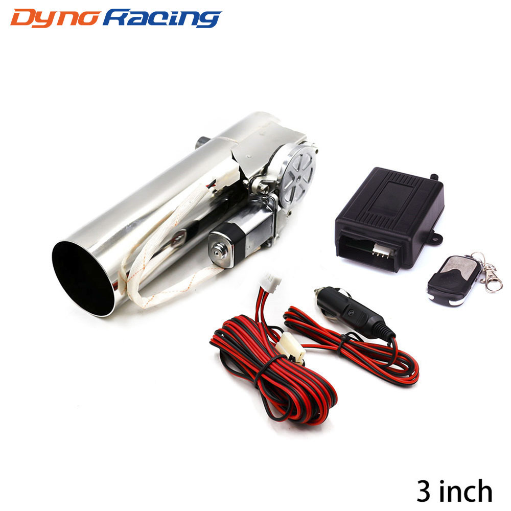 3'' Inch 76mm Exhaust Control Valve Exhaust Pipe Electric Pipe Electrical Exhaust Cutout With Remote Control Wholesale