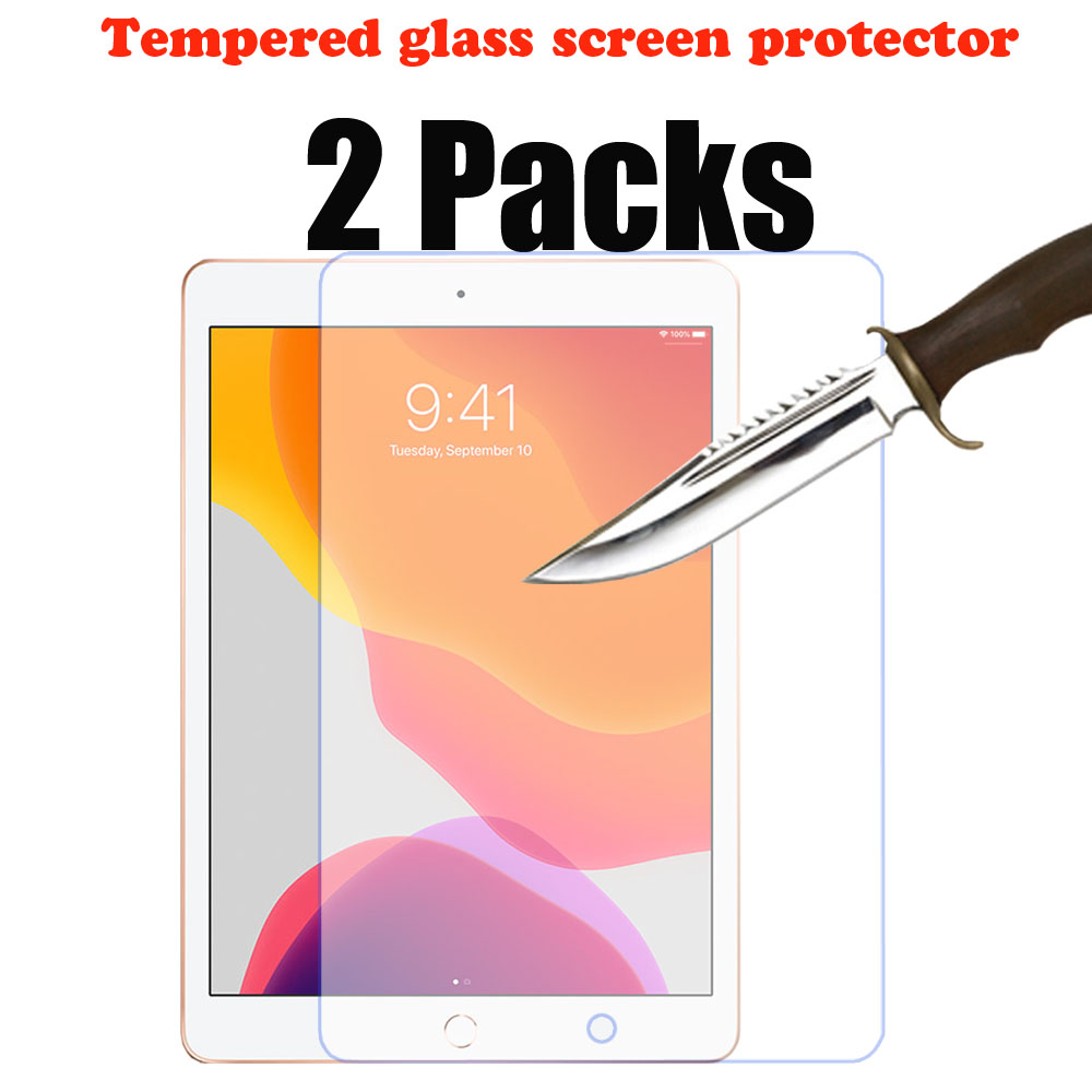 2 Packs Tempered Glass Screen Protector For IPad 10.2 2019 7th Generation Apple Ipad Protective Screen Film