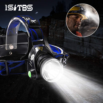 LED Headlamp Super Bright Headlight T6/L2 Outdoors Waterproof Zoomable USB Rechargeable 18650 Battery Flashlights Camping Light 1