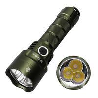 Nuevo Color Sofirn C8F LED potente Flashligh Cree XPL 3500ml linterna recargable 21700 Super brillante Linterna Verde marrón
