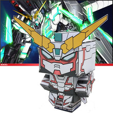 No-glue RX-0 Unicorn Gundam Folding Cutting Cute 3D Paper Model Papercraft Movie Figure DIY Cubee Kids Adult Craft Toys CS-030(China)