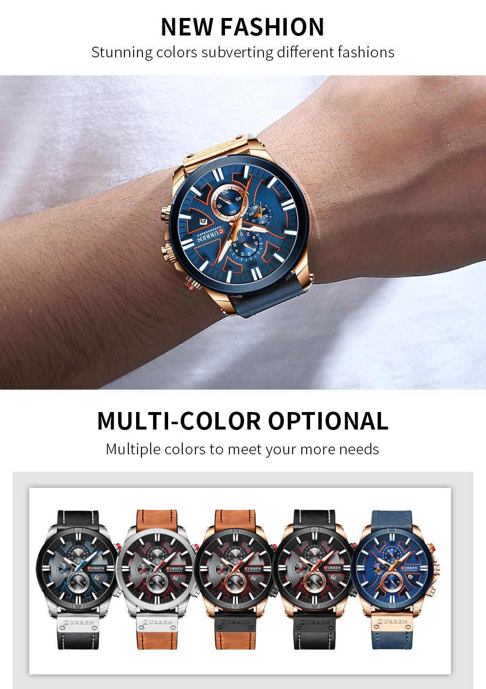 curren 8346 Men Leather Watch