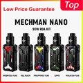 Оригинальный Vape комплект Rincoe Mechman Nano 90 Вт RDA комплект от одной батареи 18650 и поддержка одной/двойной катушки электронная сигарета vape pod Компле...