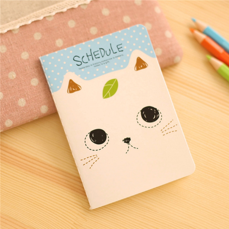 Cartoon Cat  Notebook Sweet Hard Cover Paperback Book Diary Notepad Sketchbook AXYF