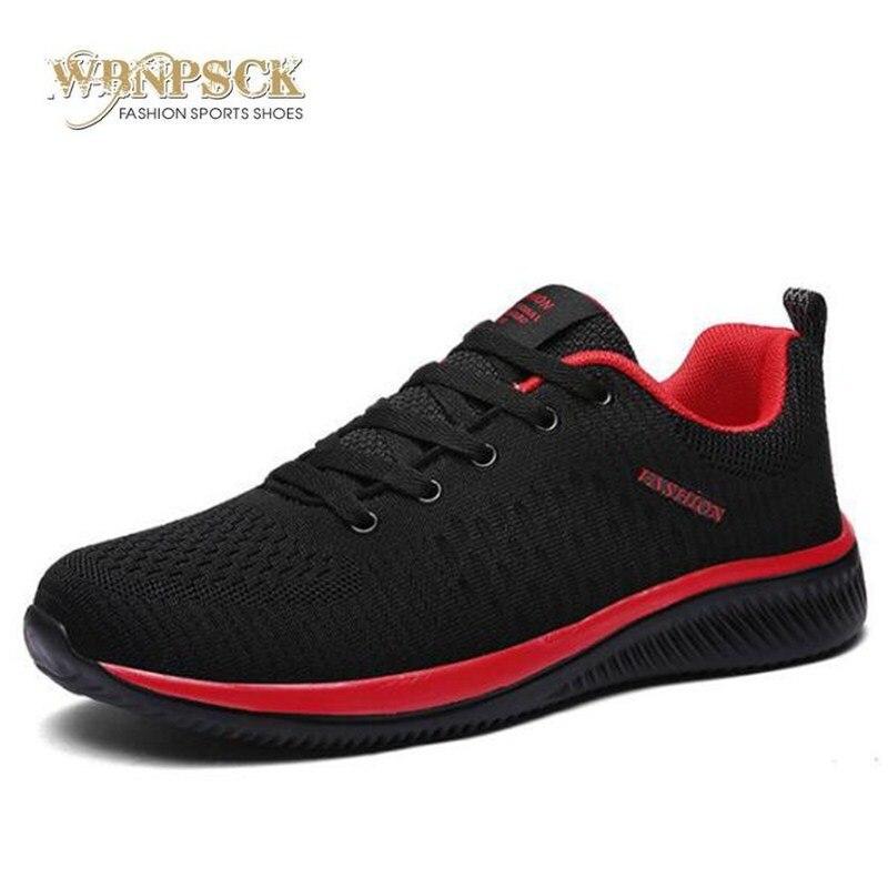 Mens 2019 New Mesh Men Casual Shoes Lac-up Men Shoes Lightweight Comfortable Breathable Walking Sneakers Tenis Feminino Zapatos zapatillas de moda 2019 hombre