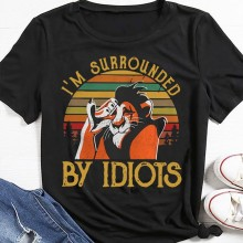 Im Surrounded By Idiots The Lion King 2019 Scar Vintage Retro T-shirt(China)