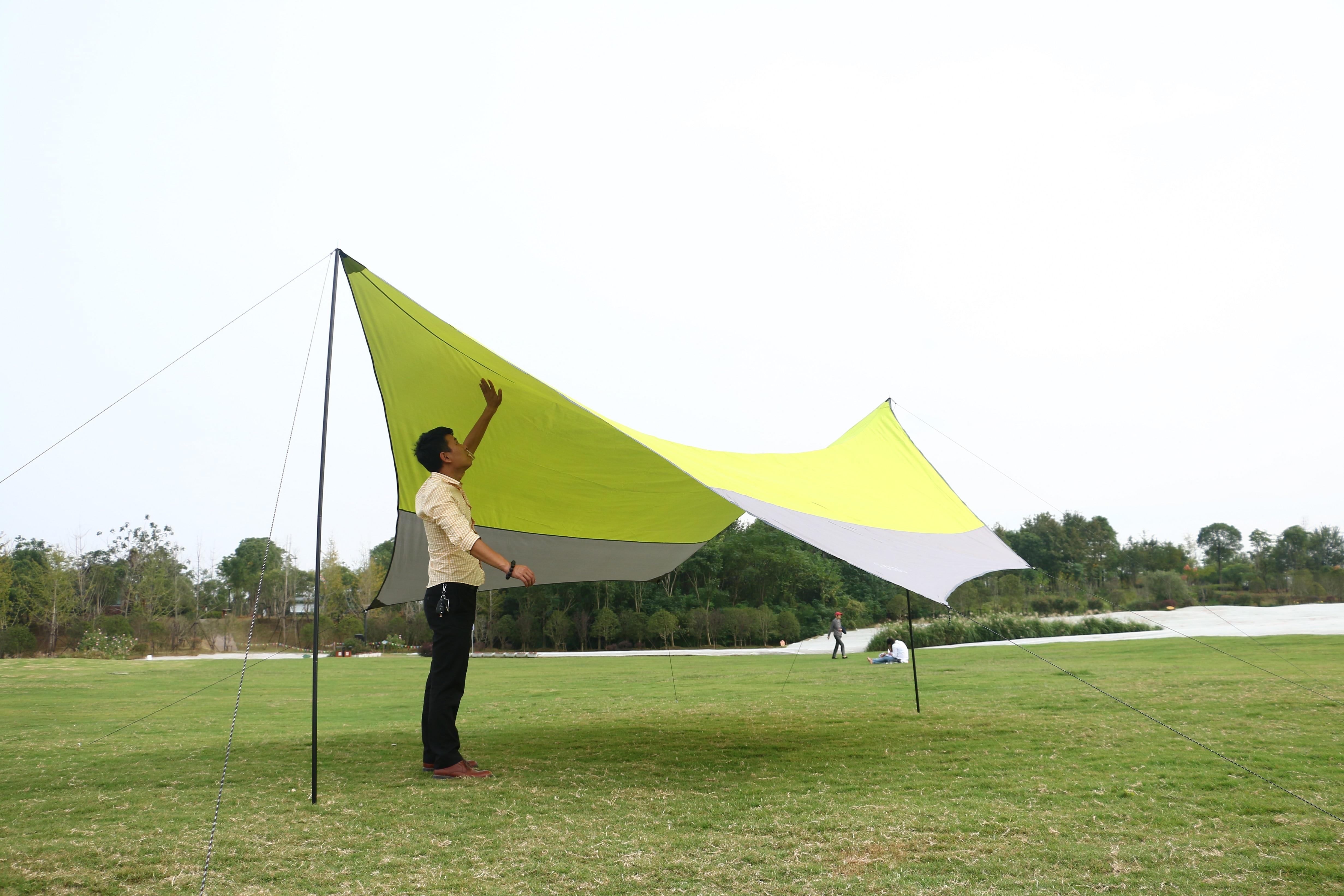 Outdoor zonwering doek voor 5 mensen chatten en thee 5 meter open maat gebruikt in camping en picknick, gratis verzending - 5
