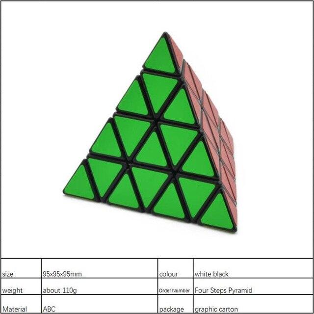4x4x4 Pyramid Cube Black/Stickerless Magic Cube  95*95*95mm Pyramid Cube 4x4 Puzzle Pyramid Cube Special Toys For Children 5