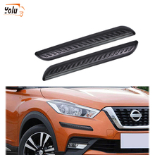 YOLU 2Pcs Auto Protector Front/Rear Bumper Protection Strips Rubber Car Guard Corner Anti-Scratch Trim Bar Styling