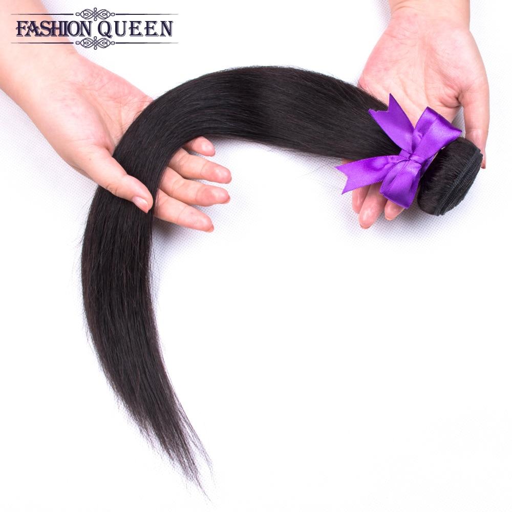H38d5955bc21449ab9cfd2bede7a78ce6K Brazilian Straight Hair Bundles With Closure 3 Bundles Human Hair Weave Bundles With Closure Hair Extensions Fashion Queen