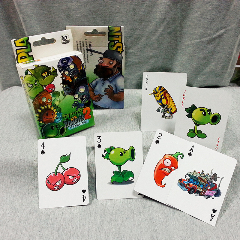 Plants Vs Zombie Characters Poker Cards PVZ Game Card Poker Game Board Game Card Creative Gift