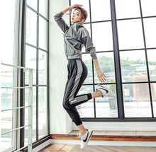 3pcs Autumn Women Sport Suit Tracksuits Zip Up Jacket Hoodie+bra+pant Casual Jogger Running Workout Outfit Yoga Set Sportswear