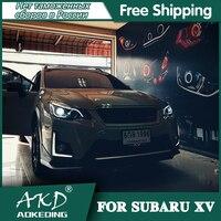 AKD Car Styling for 2012 2015 subaru XV LED Headlight High Quality Headlights LED DRL Bi Xenon Lens High Low Beam Parking