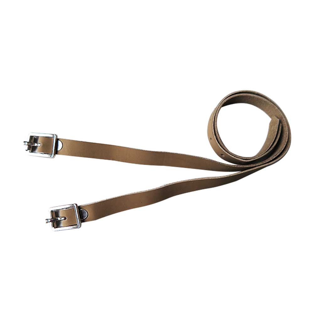 2 Pcs PU Leather Long Sports Solid Training Durable Protective With Buckle Accessories Spur Strap Outdoor Horse Riding Equipment