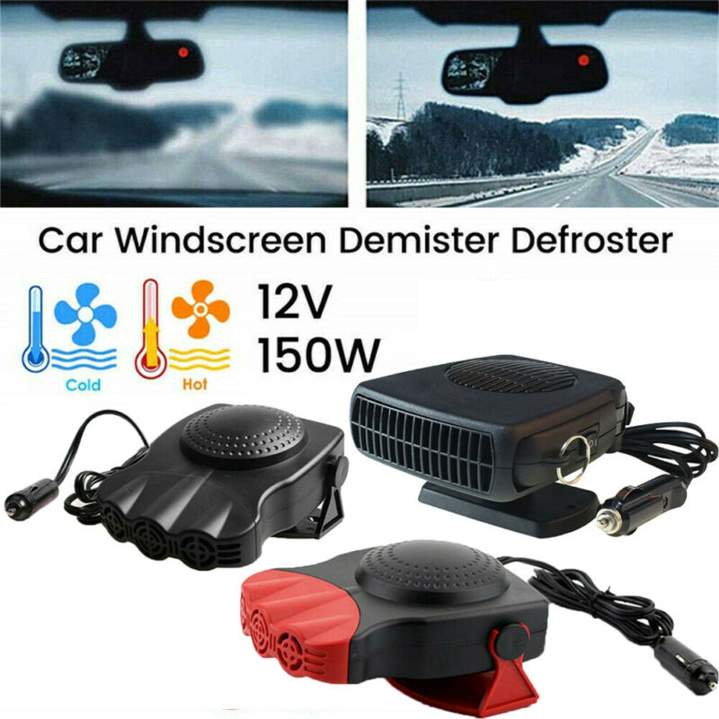 Car Heater 12V Dash Mount & Hand Portable Hot & Cold Fan Defroster Demister 150W