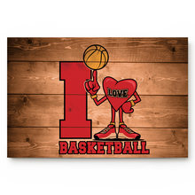 Wood Grain I Love Basketball Bathroom Non-slip Doormat Bathroom Accessories Living Room Kitchen Doormat(China)