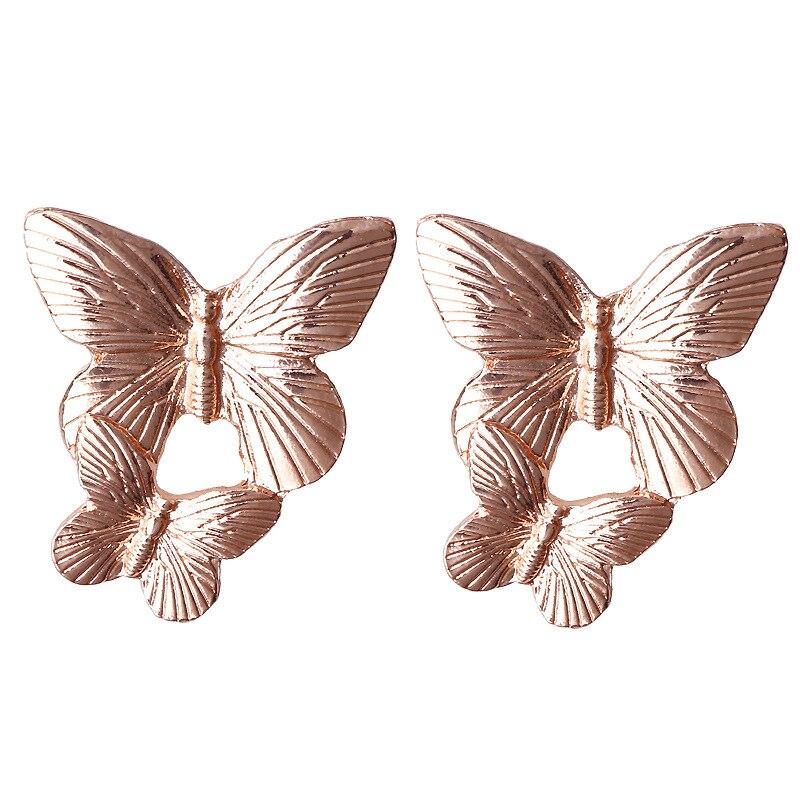 Mostyle 30 стилей модные большие винтажные золотые серебряные розовые золотые геометрические массивные металлические Висячие серьги для женщин - Окраска металла: 62934