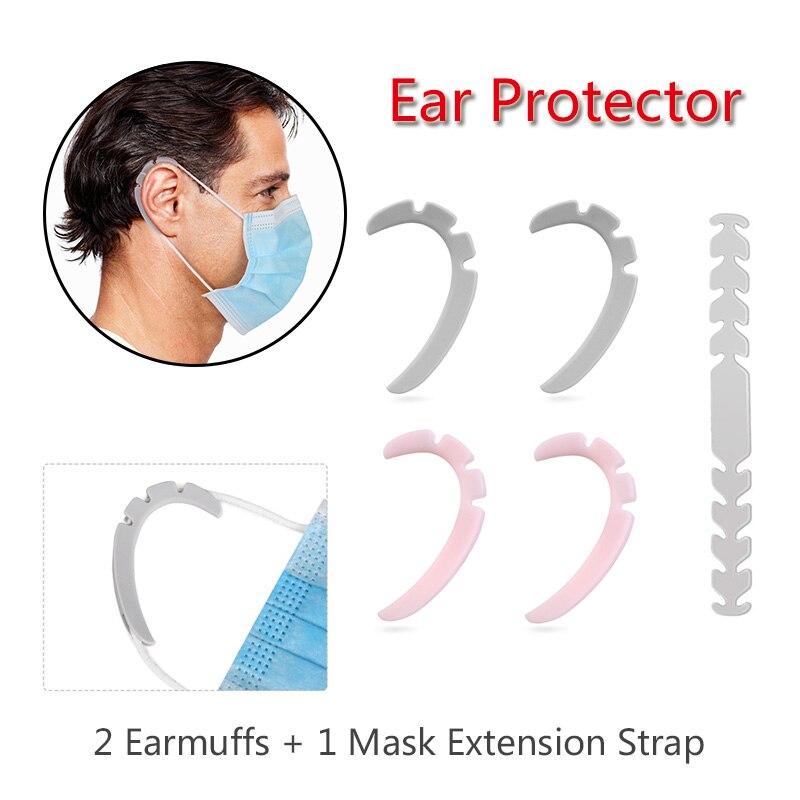 Adult Children Three-piece Anti-lear Artifact Set Silicone Ear Protector Anti-epidemic Mask Artifact Ear Hook Strap Holder