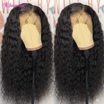 13x4 13x6 koronki przodu peruki z ludzkich włosów wstępnie oskubane z dzieckiem włosy brazylijski peruka z mocnymi lokami koronkowa peruka na przód nie Remy Jazz gwiazda włosów