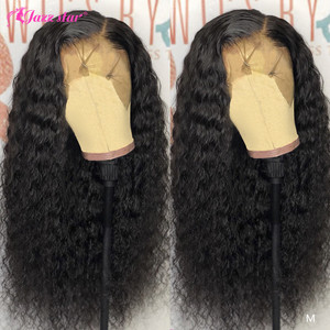 13x4 Lace Front Human Hair Wigs For Women Pre Plucked With Baby Hair Brazilian Deep Wave Wig Lace Front Wig Non-Remy Jazz Star