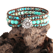 RH Fashion Boho Bracelet Jewelry Colorful Natural Stone Friendship Beaded Wrap Braceletes DropShip