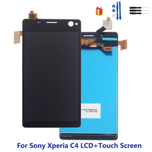For Sony Xperia C4 LCD Display + Touch Screen Digitizer Assembly For Sony Xperia C4 LCD E5303 E5306 E5333 Display Replacement lcd display for sony for xperia c4 e5303 e5333 e5353 lcd with digitizer touch screen assembly black and white free shipping