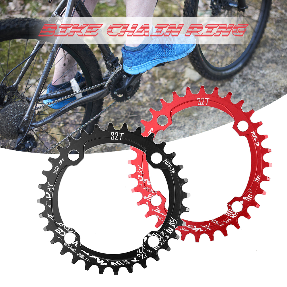 Bicycle Chainwheel MTB Bike BCD104mm Chainring Narrow Wide 32T//34T//36T//38T Black
