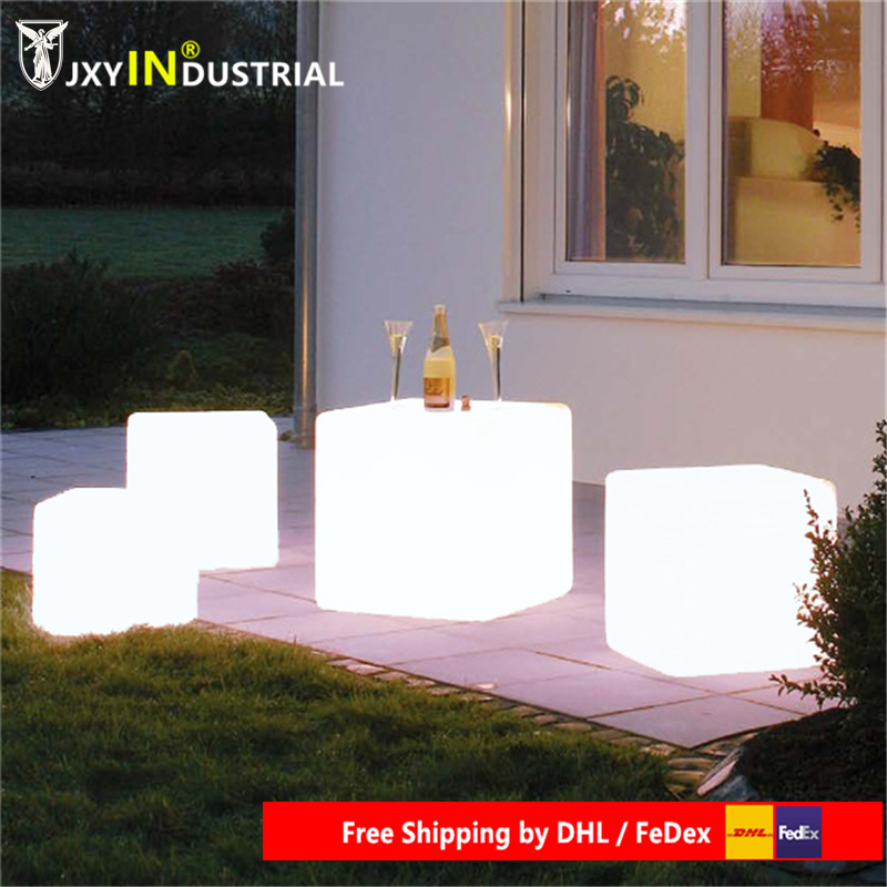 30cm LED Light Cube lumineux rechargeable cube illuminated chair free shipping