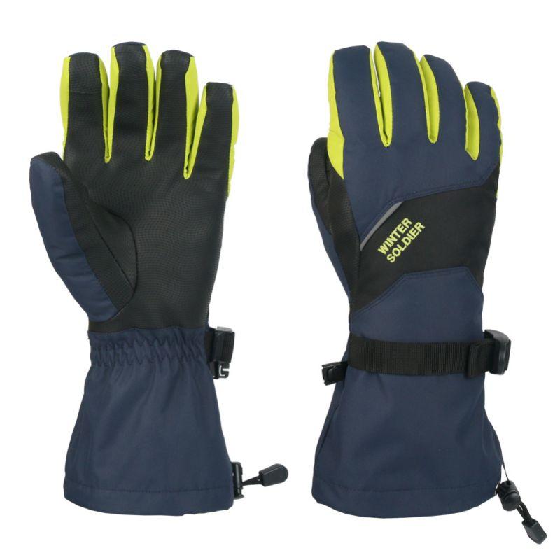 Unisex Touch Screen Skiing Gloves Windproof Long Wrist Winter Warm Mittens Snowboard Children Waterproof Ski Gloves
