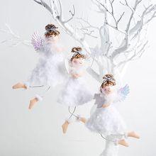 Christmas Angel Plush Doll Pendant Creative Tree Closet Hanging Ornaments Window Decoration Xmas Gift Toy