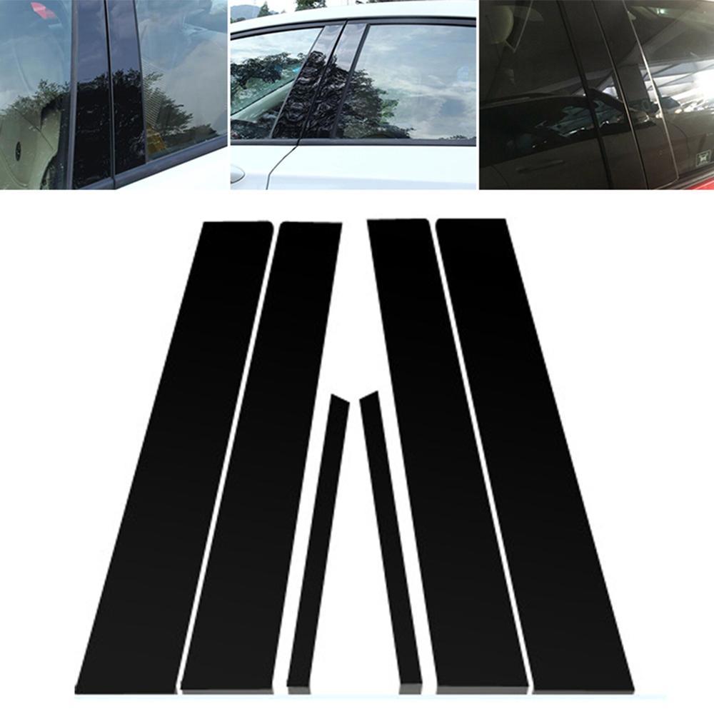6 sztuk dla Honda Civic 2006-11 lustrzany efekt okno filar posty pokrywa wykończenia Automotive akcesoria zewnętrzne