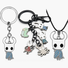 Hollow Knight key chain Cartoon Keychain Metal Pendants Keyrings Cute Jewelry Gift for Women Men Kids Trinkets accessories newest movie jewelry game of thrones key chain house stark targaryen keychain keyrings gift jewelry