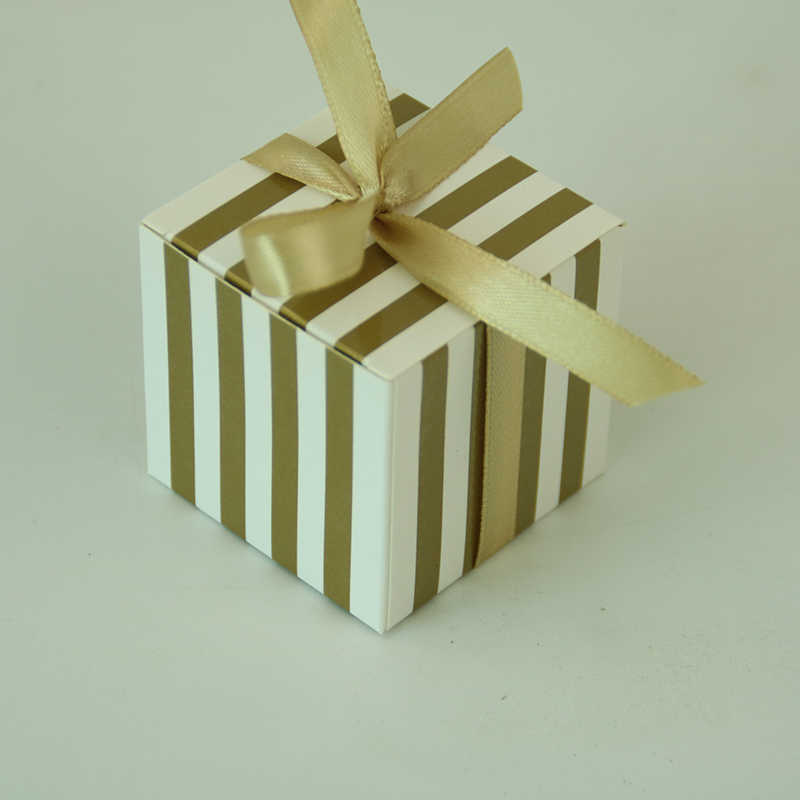 Lot of 6 square boxes for dragees christening communion wedding prince