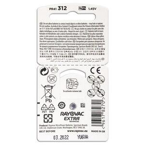 Image 2 - Hearing Aid Batteries 60 PCS/1 box RAYOVAC EXTRA A312/312/PR41 Zinc Air batterie 1.45V   Size 312 Diameter 7.9mm Thickness 3.6mm