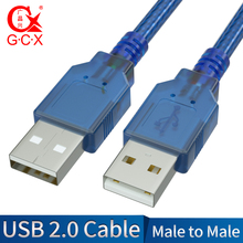 GCX USB to USB Cable Type A Male to Male Extension Data Cord Wire for Radiator Hard Disk Computer PC USB 2.0 Cable Extender high quality m f for micro usb 2 0 type b male to female extension cable wire extender charging cable cord good selling