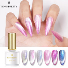 Geboren Pretty 6Ml Magnetische Gel Nagellak Auroras Snowlight Shining Cat Eye Nagel Gel Langdurige Uv Gel Soak off Base Top Coat(China)