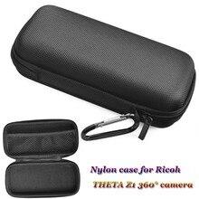 JINSERTA портативный противоударный чехол для RICOH THETA Z1 360 °, нейлоновая сумка для камеры с карабином для панорамной камеры THETA Z1 360 °