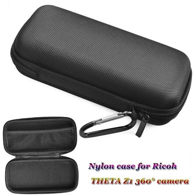 JINSERTA נייד עמיד הלם מקרה עבור RICOH תטא Z1 360 ° מצלמה ניילון תיק עם Carabiner עבור תטא Z1 360 ° פנורמה מצלמה