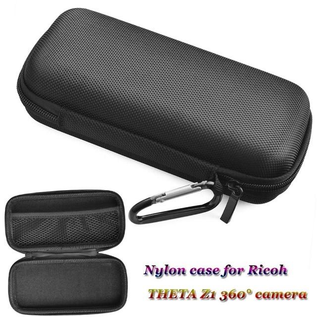 Jinserta 휴대용 충격 방지 케이스 리코 세타 z1 360 ° 카메라 나일론 가방 carabiner theta z1 360 ° 파노라마 카메라