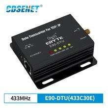 Transceptor do rf rj45 do plc 433mhz do iot do rádio E90 DTU 433C30E do comunicador da longa distância do transmissor do rf dos ethernet modbus 433mhz