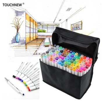 TouchFive 30/40/60/80 Colors Markers Set Dual Headed Sketch Oily Alcohol based ink Professional Art Supplies For Drawing