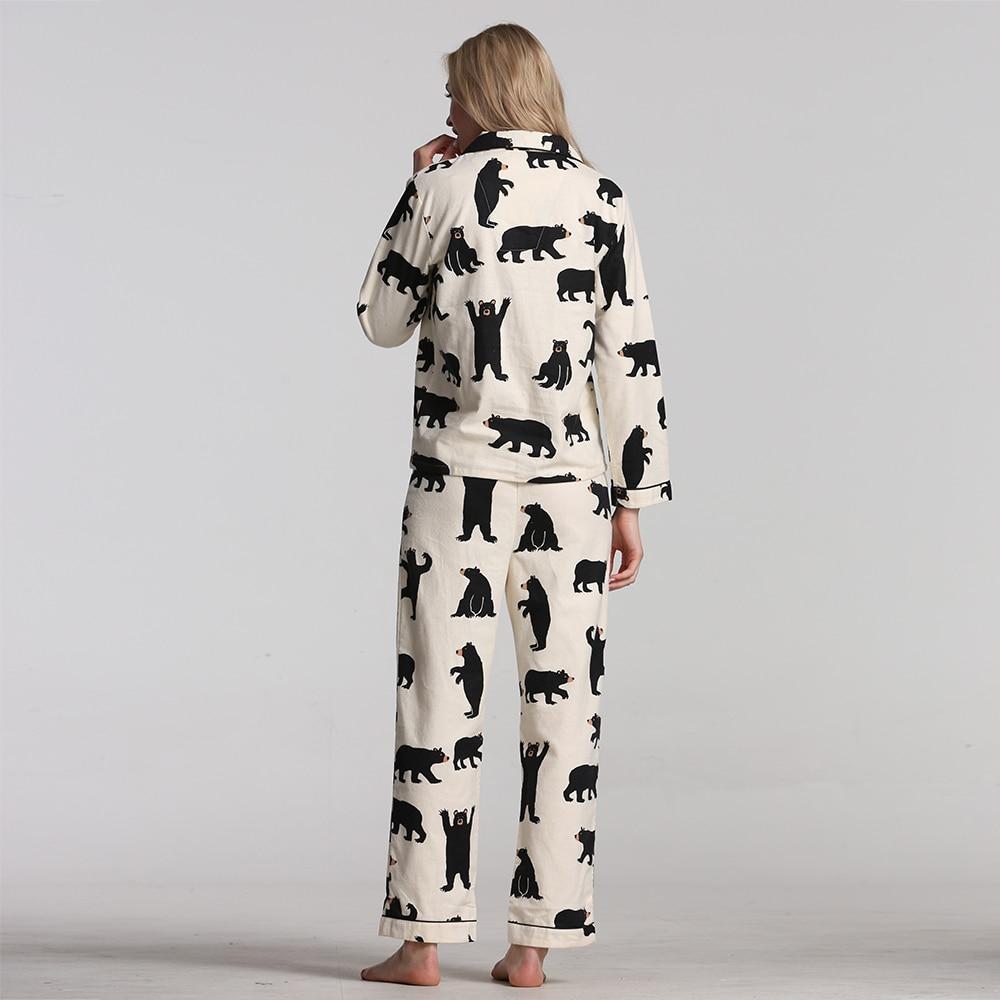 Pajamas For Women Spring Autumn Pajamas Set New Cartoon Printed Long Sleeve cotton skin-friendly Sleepwear Women Pajamas 25
