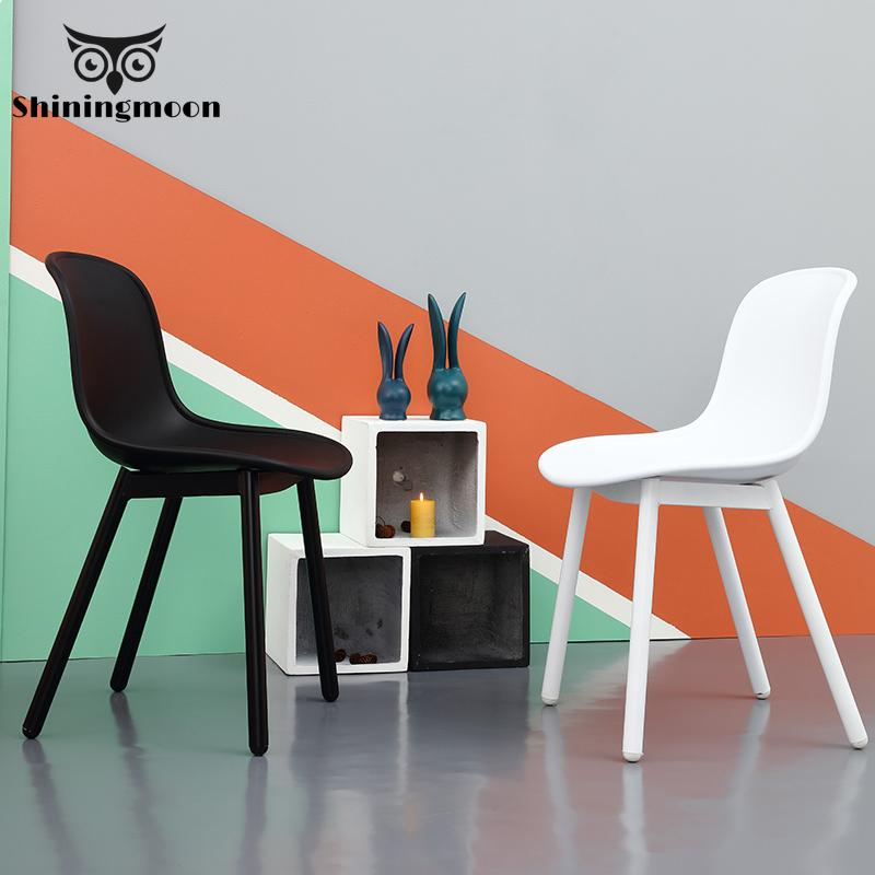 Nordic Minimalism Dining Chairs Restaurant Creative Bedroom Living Room Plastic Chair Coffee Table Hotel Shoe Sofa Furniture