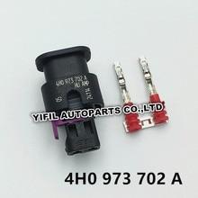 2/4/10 pçs/lote 2 pinos/way 1.2mm selado conector kit 4h0973702a 000979034e para vw vag bomba de combustível t5 7e0 963 303