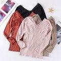 Зимнее женское тонкое термобелье Базовая футболка тонкая кружевная боковая v-образная горловина бесшовное боди с длинными рукавами термоб...