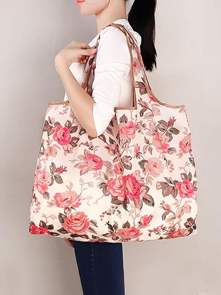 Shoulder-Handbag Tote-Bags Grocery Folding Eco-Friendly Travel Reusable Fashion for Pocket