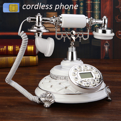 Antique archaic 4G support GSM 900 1800MHz SIM Card Fixed Phone cordless retro Wireless Telephone home office hotelHandphone