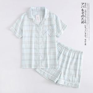 Image 5 - נשים 100% כותנה קצר שרוולי גבירותיי פיג מות סטי מכנסיים קצרים חמוד קריקטורה הלבשת יפני פשוט קצר פיג נשים Homewear