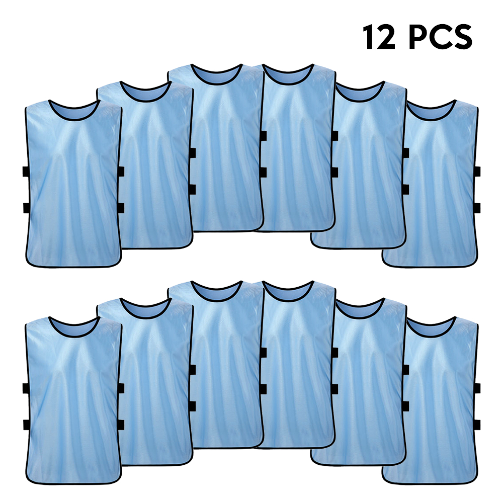 Soccer Pinnies Quick Drying Football Jerseys Vest Scrimmage Adults Practice Sports Vest Breathable Team Training Bibs12 PCS