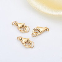 Classic Lobster Buckle Real G18k Gold Clasps & Hooks Connectors Necklace Bracelet DIY Accessories